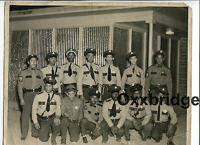 African American Police Officers Black Cop ORIGINAL 1950 Vintage Photo Americana