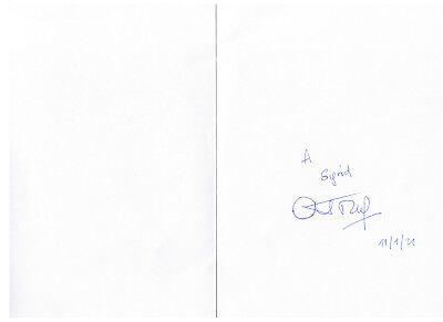 Abdou Diouf, Karte handsigniert
