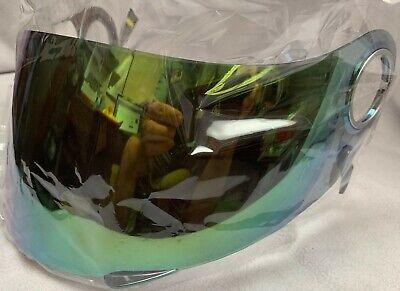 Scorpion EXO-400/700 Helmet Faceshield Shield Visor Green Mirror *SAMPLE-BLEM*