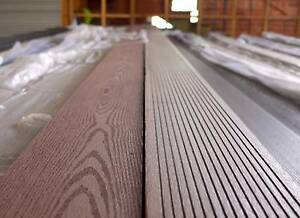 wpc composite decking plastic eco wood deck merbau look
