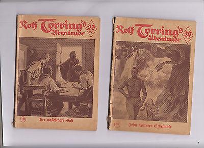 Rolf Torring´s Abenteuer 108 + 130 Original ab 1930  Neues Verlagshaus für Volks