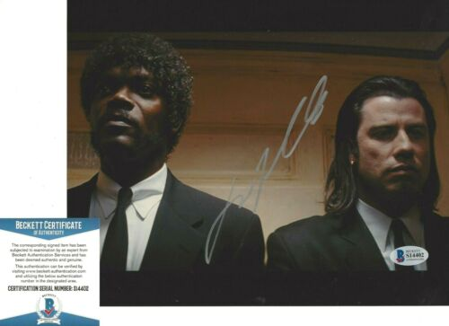 JOHN TRAVOLTA SIGNED 'PULP FICTION' VINCENT 8x10 MOVIE PHOTO BECKETT BAS COA