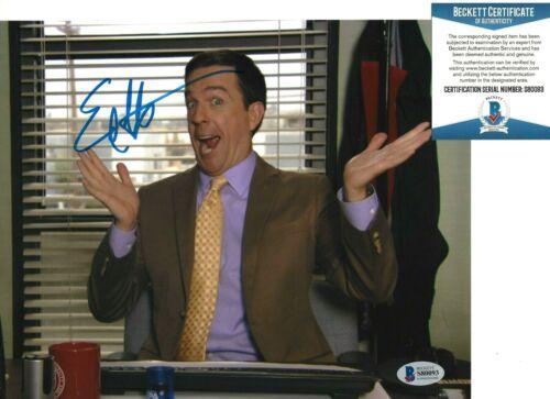 ED HELMS SIGNED 'THE OFFICE' ANDY BERNARD 8x10 PHOTO 9 ACTOR BECKETT COA BAS