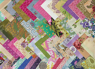 """500 piece quilt pre-cut pack 2.5""""x 2.5"""" fabric squares Cathedral Windows"""
