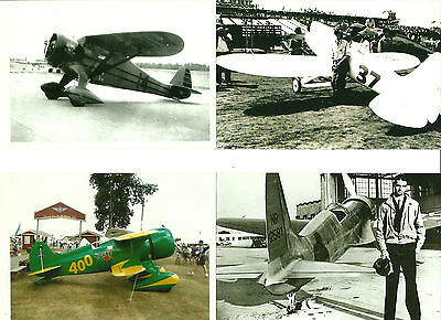 "LOT OF 4: LOT#15 (Pete) RACING AIRPLANES 4"" X 6"" BLACK & WHITE PHOTOGRAPHS"