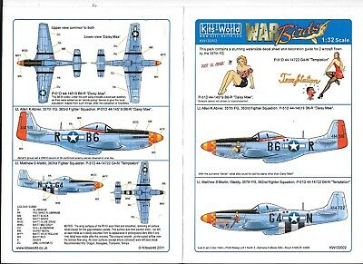 Kits World P-51D Mustang Decals 1/32 002, Daisy Mae, Temptation, DO