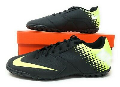 Nike Bomba TF Mens Turf/Indoor Soccer Shoes Black/Volt-White 826486 071 (NEW) Indoor Turf Soccer Shoes