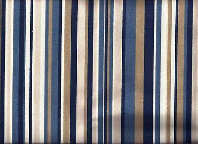Stripe Valance (Blue Tan Stripe curtain)