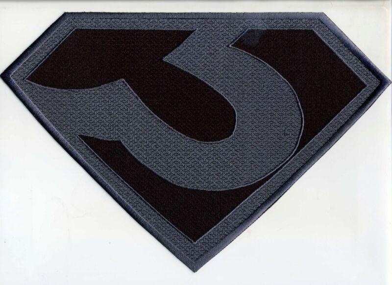 "7.8"" x 11.8""  X-Large ZOD [Superman Man of Steel style] Black & Gray Logo Patch"