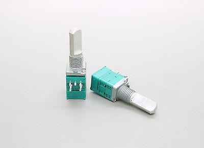 2 X 9mm Alps B50k 50k Linear Taper Potentiometer Push Pull Switch 20mm D Shaft