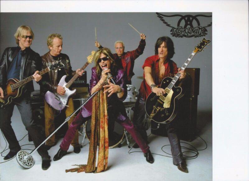 8 1/2 x 11 Glossy Photo Aerosmith  {120}