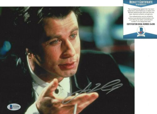JOHN TRAVOLTA SIGNED 'PULP FICTION' VINCENT 8x10 MOVIE PHOTO 6 BECKETT BAS COA