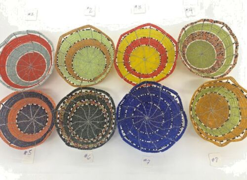 Handmade Beaded and Wire Basket African Arts