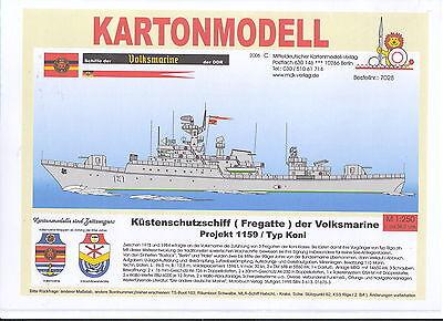 MDK-Verlag 7028 - Kartonmodell - KSS der Volksmarine Typ Koni Proj. 1159 - 1:250