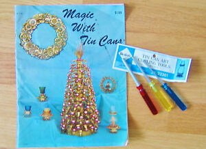 Magic-with-Tin-Cans-Book-and-3-Tools-for-Curling-Tin-Craft-Projects