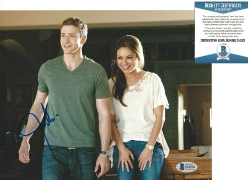 JUSTIN TIMBERLAKE SIGNED FRIENDS WITH BENEFITS 8x10 MOVIE PHOTO BECKETT BAS COA