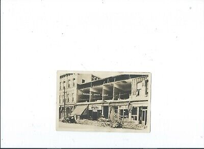 RPPC postcard SANTA BARBARA CALIFORNIA EARTHQUAKE STORE TIRE SPOT STATE ST PC (State St Santa Barbara)