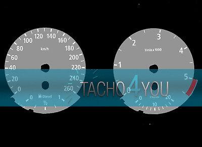Tachoscheibe für BMW 3er E90 & 5er E60 Diesel 260 kmh km/h M3 M5 526501 Grau gebraucht kaufen  Heroldsbach