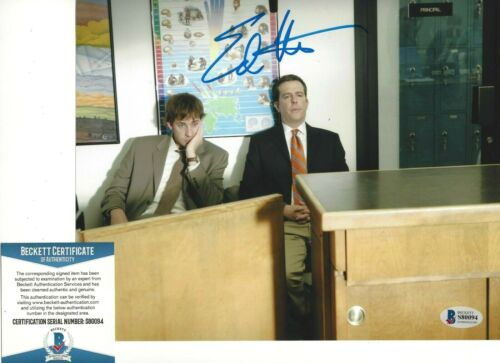 ED HELMS SIGNED 'THE OFFICE' ANDY BERNARD 8x10 PHOTO 3 ACTOR BECKETT COA BAS