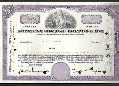 American Viscose Corporation Aktie 17.10.1960