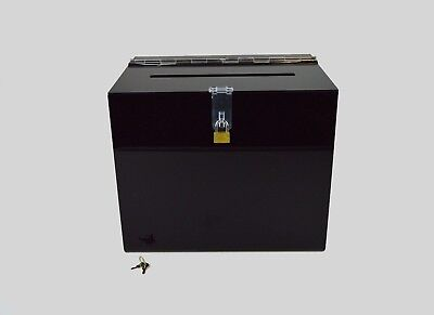 Suggestion Box / Collection Box Lockable - BB0005 Gloss Black