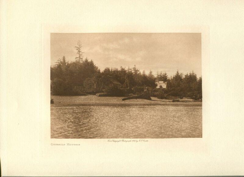 1912 Original Photogravure | Edward Curtis | Quinault Houses