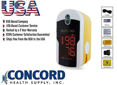 Fingertip Pulse Oximeter With Case Lanyard And Batteries - The Concord Topaz