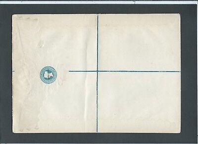 GB Stationery 1878 QV 2d blue 'SPECIMEN' ovpt Registered Envelope size I RP5