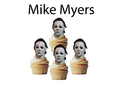 Halloween Mike Myers cupcake toppers, cupcake decor 24 pcs - Cupcake Toppers Halloween