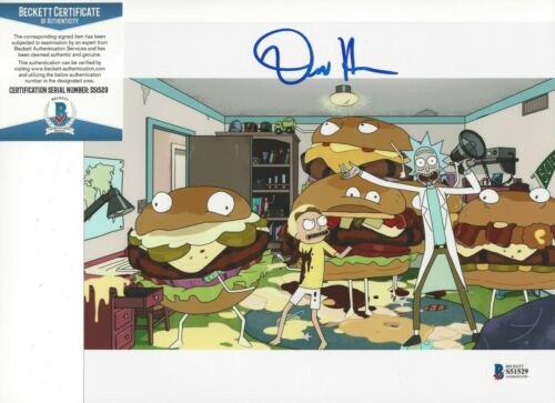 DAN HARMON - RICK AND MORTY CREATOR - SIGNED 8x10 PHOTO 1 w/ BECKETT COA PROOF