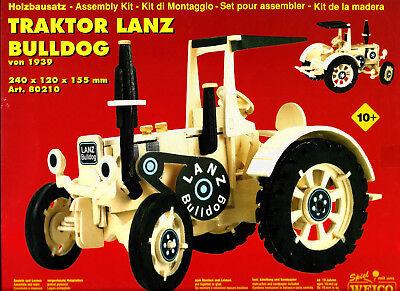 """3D-Puzzle """"Traktor Lanz Bulldog"""" von 1939 Holzbausatz 240x120x135 mm ab 10 Jahre"""