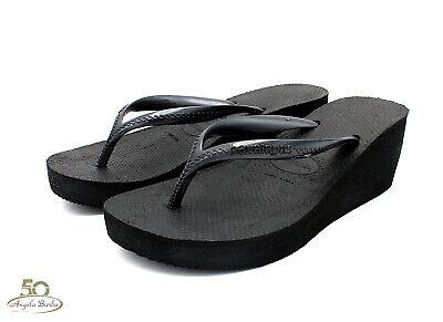 Havaianas Flip-Flops für Frau Wedges High Fashion Sandalen Meer Hoch Schwarz