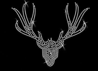 5cm Aufbügeln Bügelbild Ornament Applikation Hirsch Geweih  (Geweih Ornamente)