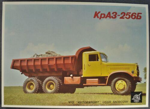 1972-1976 USSR KpA3-256b Dump Truck Brochure English Text Autoexport Original