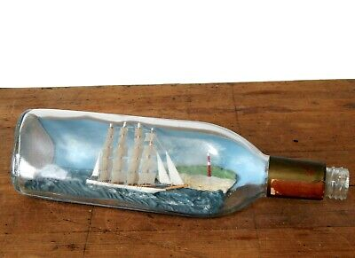 Vintage Ship In A Glass Whisky Bottle Maritime Seaside WM Grant & Sons