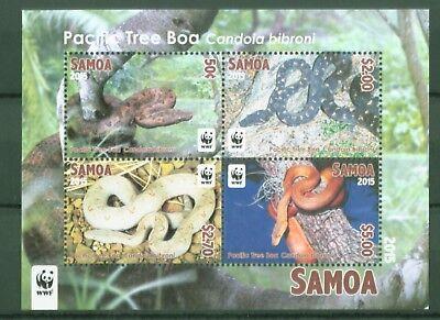 Samoa 2015 - WWF - Weltweiter Naturschutz - Pazifik-Baumboa - Boas - Block