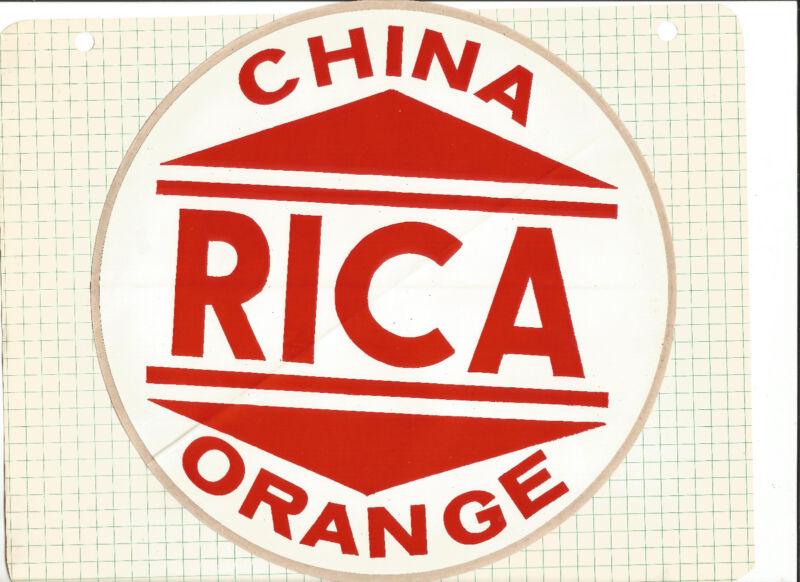 Sticker,large-CHINA RICA ORANGE..circ[e,red.original CN=ProductsOverTime