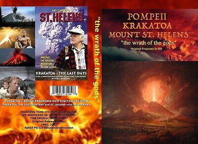 2 DVD SET  KRAKATOA, POMPEII, MOUNT ST. HELENS (the wrath of the gods)