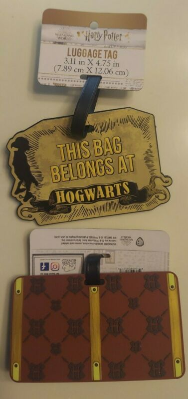 2 Luggage Tags (Harry Potter) 1 oversized