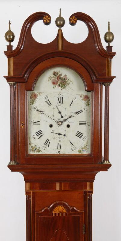 Sayre & Bachman Eliz Town NJ High Style Federal Mahogany Tall Case Clock C 1810