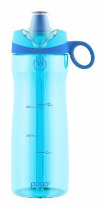 Pogo 18oz Leak Proof Backpack Friendly Tritan Water Bottle Regatta Blue BPA free Leak Proof Backpack Bottle