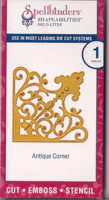 Spellbinders Shapeabilities Die D-Lites cut emboss stencil Antique Corner 1pc