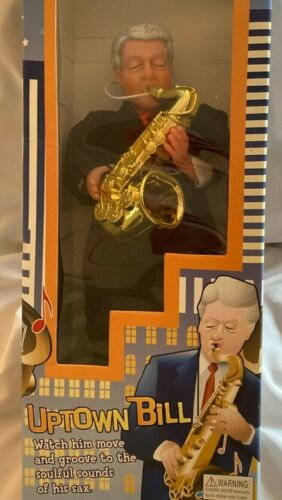 UPTOWN  BILL CLINTON  DOLL  w/ SAXOPHONE  -  DOES NOT WORK  -  AS IS