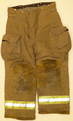 36r Pants Firefighter Turnout Bunker Fire Gear W Liner Janesville Lion P819