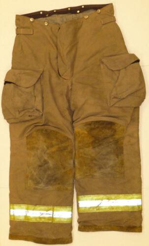 36x28 36R Janesville Lion Brown Firefighter Turnout Bunker Pants P819