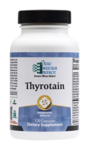 Ortho Molecular Thyrotain 120 Capsules Exp. 10/21 FRESHEST EXP. DATE & FAST