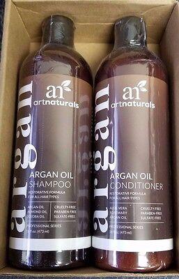 Art Naturals Organic Moroccan Argan Oil Shampoo and Conditioner Set 16oz each