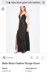 Black feather gown- $250 OBO