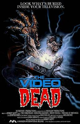 Cool Movie Poster (THE VIDEO DEAD Movie Poster Horror VHS Big Box Cool Art RARE )
