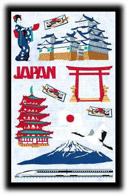 Vintage Mrs Grossman's Destinations Japan Mt. Fuji Geisha Stickers Henry White